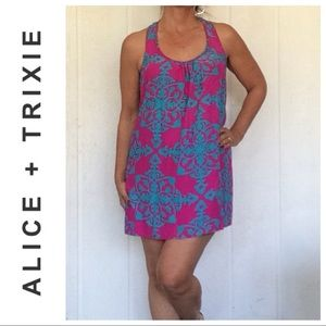 ALICE & TRIXIE 100% SILK TANK SLIP DRESS MEDIUM